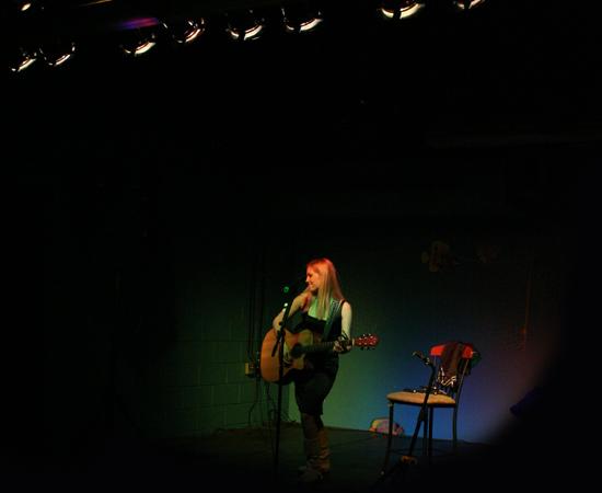 Candice Jarrett performing on stage