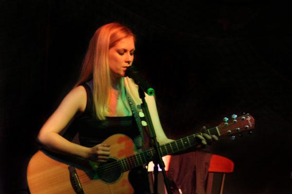 Candice Jarrett performing at Lemoyne College