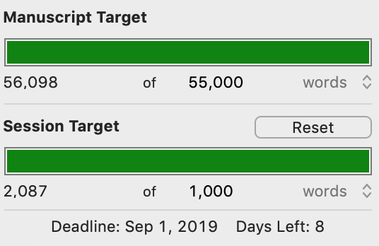 Scrivener Word Count Goals